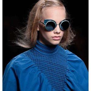 Fendi cat eye electric blue sunglasses designer